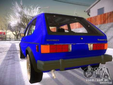 Volkswagen Rabbit GTI para GTA San Andreas esquerda vista