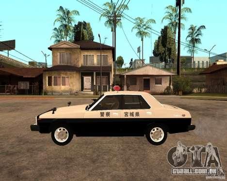 Nissan Skyline 2000 GT Police para GTA San Andreas esquerda vista