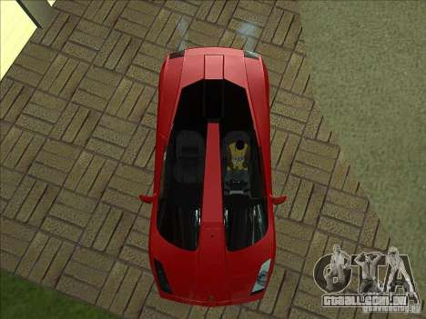 Lamborghini Concept S para GTA San Andreas vista superior