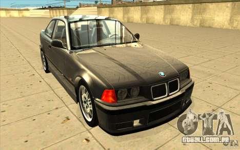 BMW E36 M3 - Stock para GTA San Andreas vista traseira