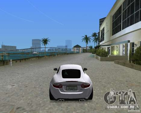 Jaguar XKR S para GTA Vice City vista traseira esquerda