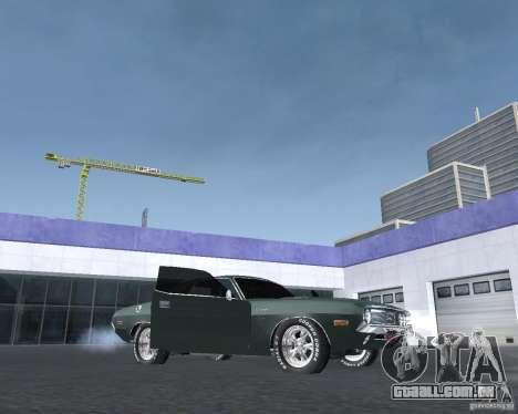 Dodge Challenger V1.0 para GTA San Andreas traseira esquerda vista