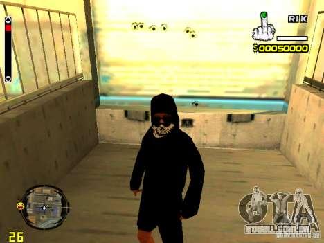 Pele vagabundo v7 para GTA San Andreas por diante tela