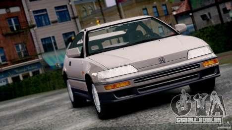 Honda CR-X SiR 1991 para GTA 4 traseira esquerda vista