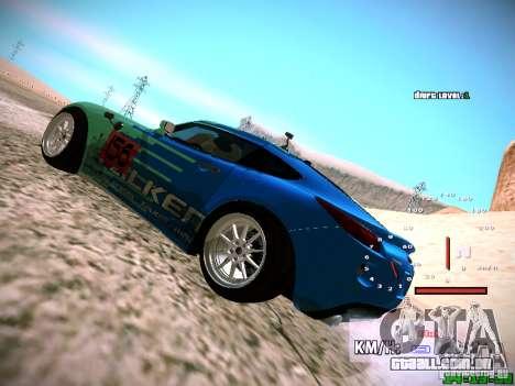 Pontiac Solstice Falken Tire para GTA San Andreas vista traseira