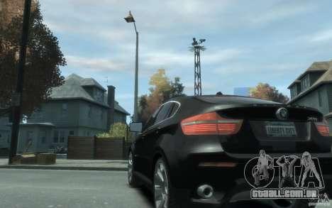 BMW X6 para GTA 4 traseira esquerda vista