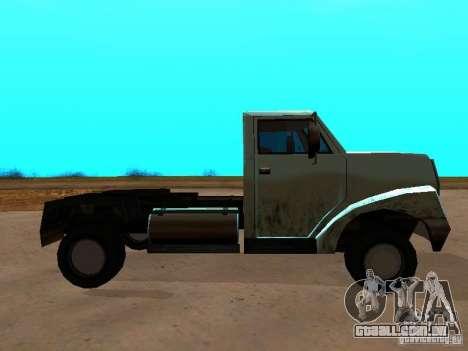 Yankee Truck para GTA San Andreas esquerda vista