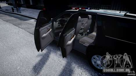 Cadillac Escalade Police V2.0 Final para GTA 4 vista lateral