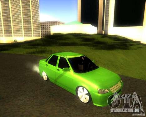LADA priora carro tuning para GTA San Andreas traseira esquerda vista