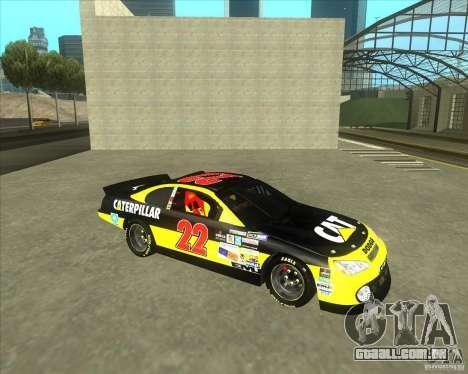 Dodge Nascar Caterpillar para GTA San Andreas esquerda vista