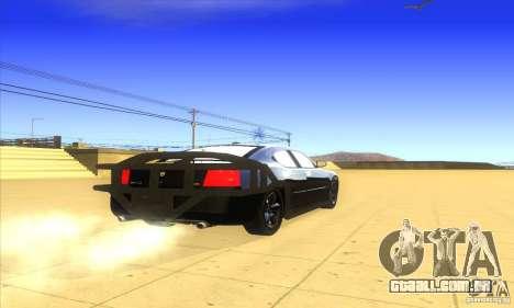Dodge Charger From Fast Five para GTA San Andreas vista direita
