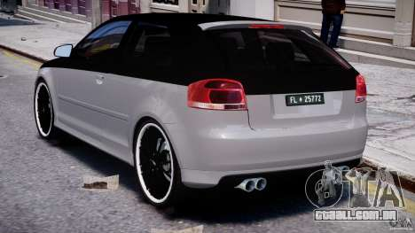 Audi S3 para GTA 4 vista direita