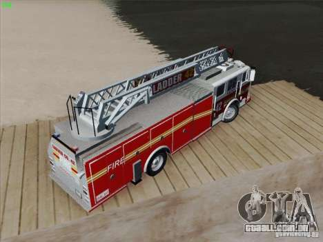 Seagrave Ladder 42 para GTA San Andreas interior