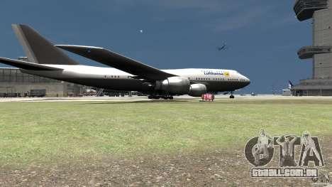 Lufthansa MOD para GTA 4 traseira esquerda vista