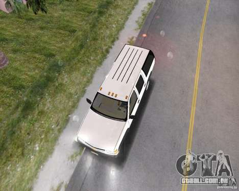 Chevrolet Suburban 1996 para GTA Vice City vista traseira esquerda