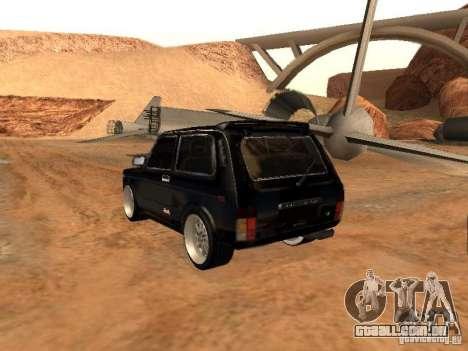 VAZ 2121 Tuning para GTA San Andreas vista traseira