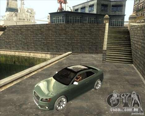 Audi S5 V8 custom 2008 para GTA San Andreas traseira esquerda vista