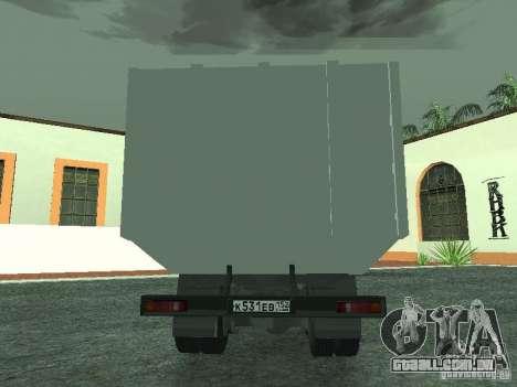 Caminhão de lixo 53215 KAMAZ para GTA San Andreas vista direita