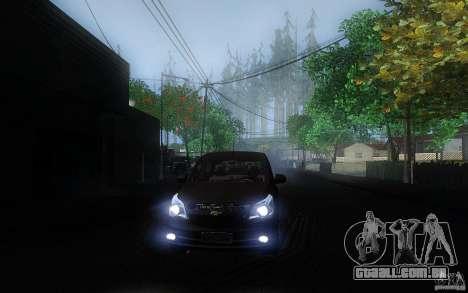 Chevrolet Agile 2012 para GTA San Andreas vista traseira