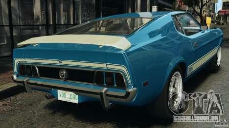 Ford Mustang Mach I 1973 para GTA 4 traseira esquerda vista