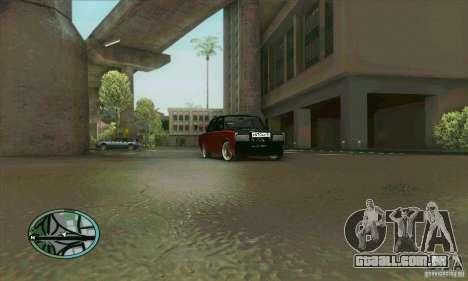 VAZ-2107 carro Tuning para vista lateral GTA San Andreas