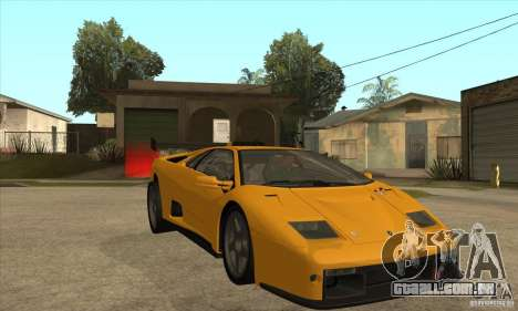 Lamborghini Diablo GT-R para GTA San Andreas vista traseira