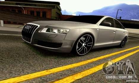 Audi A6 Blackstar para vista lateral GTA San Andreas