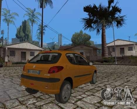 Peugeot 306 para GTA San Andreas esquerda vista