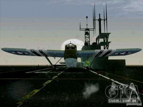 2 Linhas de aeronaves do jogo por trás do inimig para GTA San Andreas traseira esquerda vista