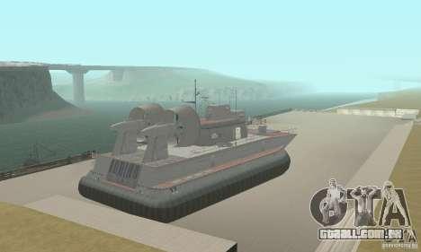 Hovercraft para GTA San Andreas esquerda vista