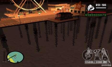 ENBSeries 0,075 (só água) para GTA San Andreas por diante tela