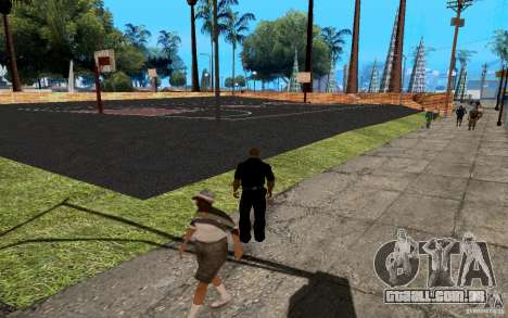 A nova quadra de basquete para GTA San Andreas quinto tela