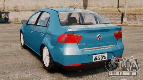 Volkswagen Voyage G6 2013 para GTA 4 traseira esquerda vista