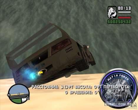 Velocímetro-2 para GTA San Andreas quinto tela