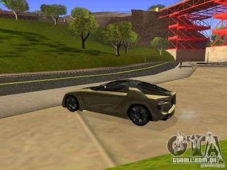 Bertone Mantide para GTA San Andreas vista direita