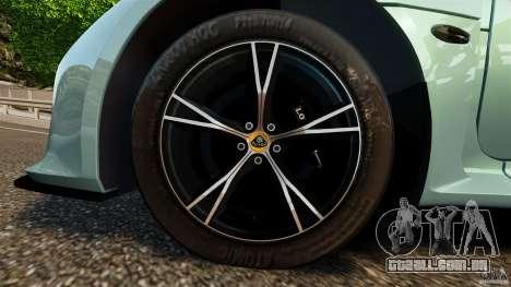 Lotus Exige S 2012 para GTA 4 vista lateral
