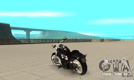 Harley Davidson FXSTBi Night Train para GTA San Andreas traseira esquerda vista