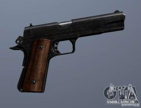 M1911 para GTA San Andreas por diante tela