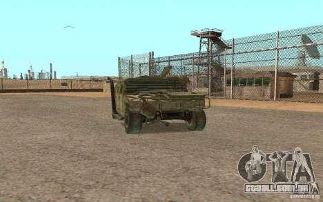 Hummer Spec Ops The Line para GTA San Andreas esquerda vista