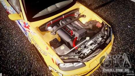 Nissan Skyline R34 GT-R Tezuka Goodyear D1 Drift para GTA 4 vista inferior