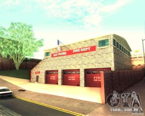 Novo quartel de bombeiros em San Fierro para GTA San Andreas