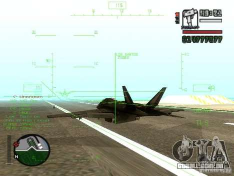 Xa-20 razorback para GTA San Andreas vista direita