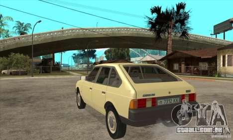 2141 AZLK para GTA San Andreas traseira esquerda vista