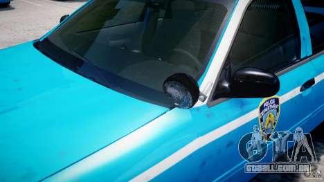 Ford Crown Victoria Classic Blue NYPD Scheme para GTA 4 rodas