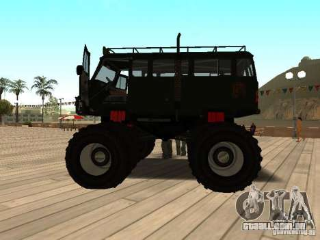 Uaz Monster para GTA San Andreas esquerda vista