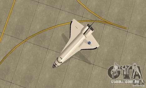 Space Shuttle Discovery para GTA San Andreas vista direita