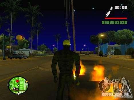 Ghost Ryder Skin para GTA San Andreas segunda tela