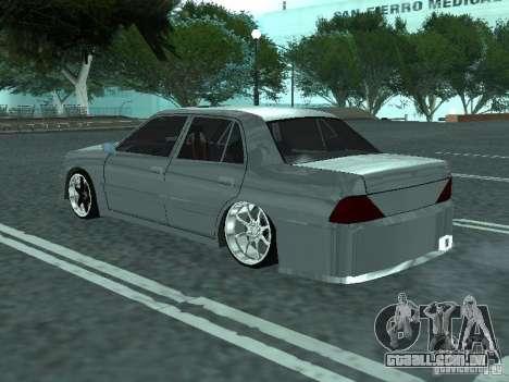 Toyota Crown S 150 TuninG para GTA San Andreas esquerda vista