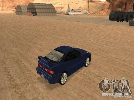 Acura RSX Light Tuning para GTA San Andreas vista traseira