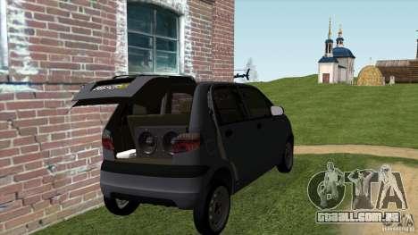 Daewoo Matiz para GTA San Andreas traseira esquerda vista